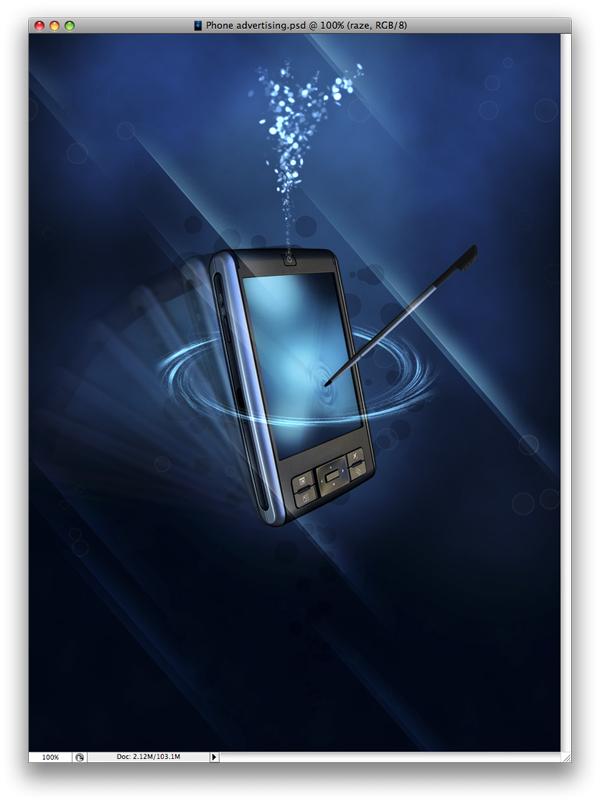 sleek phone advertisement flyer