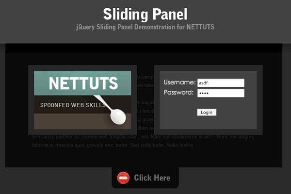 sliding panel
