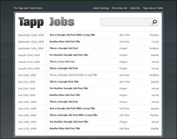 tap jobs