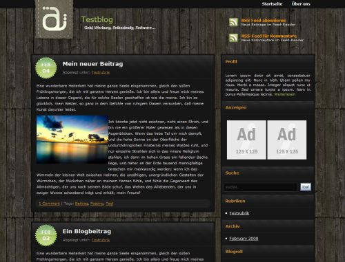 Wordpress Theme ModernOak