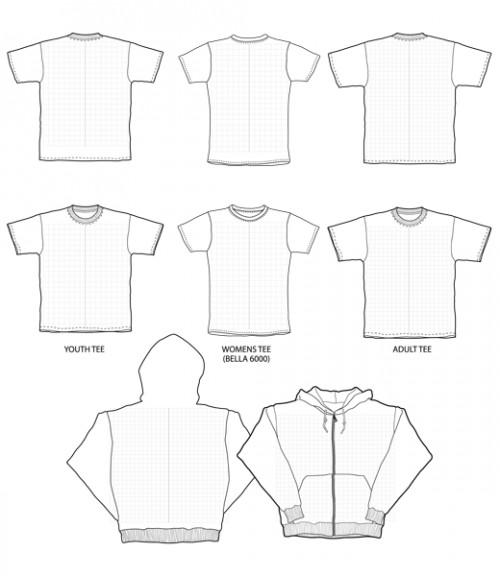 blank vector t-shirts