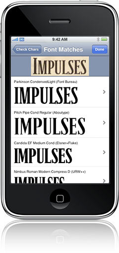 fonts iphone app