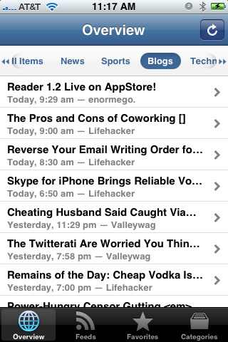 reader iphone app