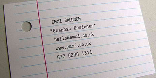 Designing a freelancers business cards for yourself good examples business card reheart Choice Image