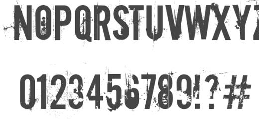 Grunge Fonts