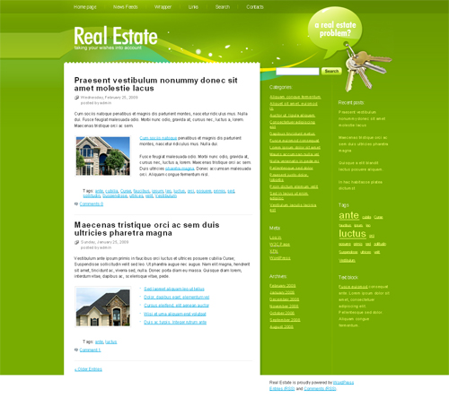 green real estate WordPress theme