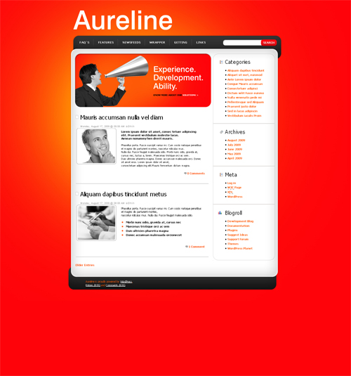 red aureline WordPress theme