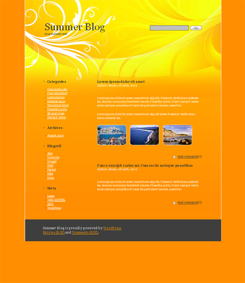 summer wordpress theme