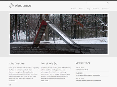 Elegance - Simple and Elegant WordPress Theme