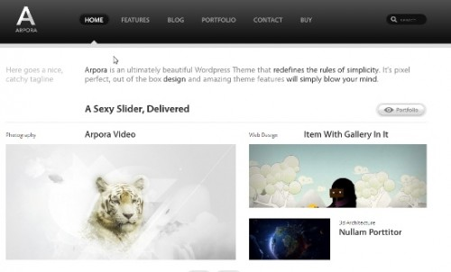 Arpora social wordpress theme