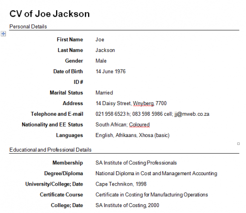 Write A Resume Template | Resume Format Download Pdf