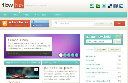 FlowHub theme wordpress