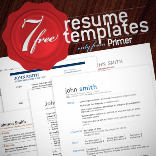 free fancy professional resume templates