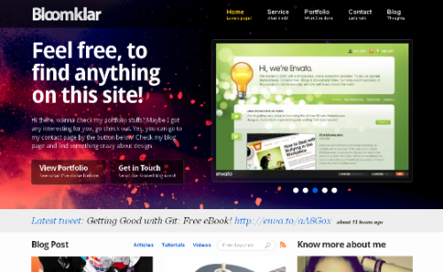 bloomklar wordpress theme
