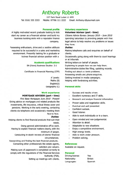 Piece Resume CV Cover Letter The Muse