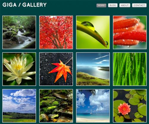 giga gallery wordpress theme