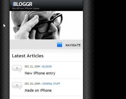 WordPress iPhone theme