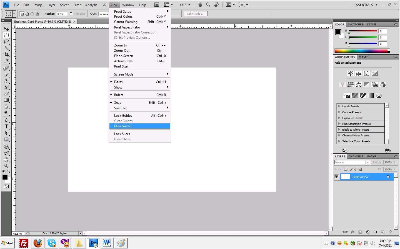 Make Simple yet Stylish Business Card Using Photoshop