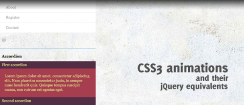 css3 jquery animations