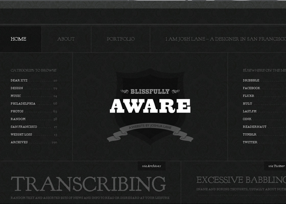 Showcase of Gorgeous Black and White Websites