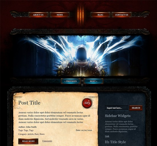 Diablo3 WordPress Theme