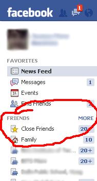 Custom Lists in Facebook