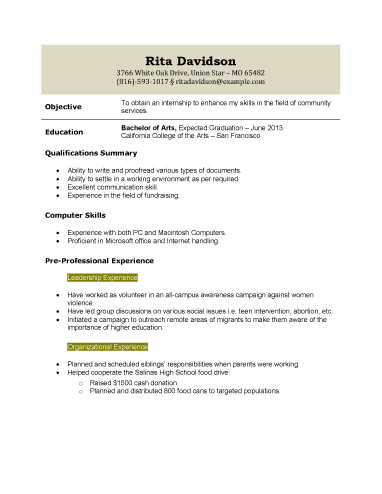 High School Student Resume Templates | Resume Template