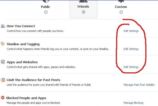 Preview of Privacy Settings in Facebook