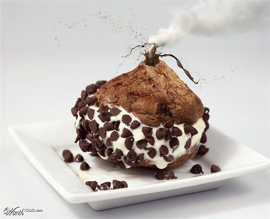 Ice Cream Volcano