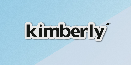 Kimberly font