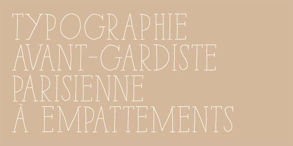 Paris Serif font