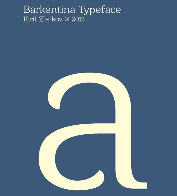 Barkentina font
