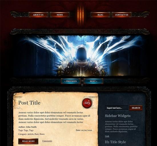 Diablo3-WordPress-Theme-550x510