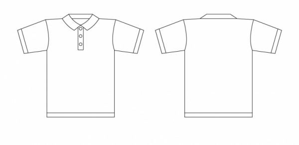 collar shirt vector template