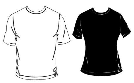 tshirt black white