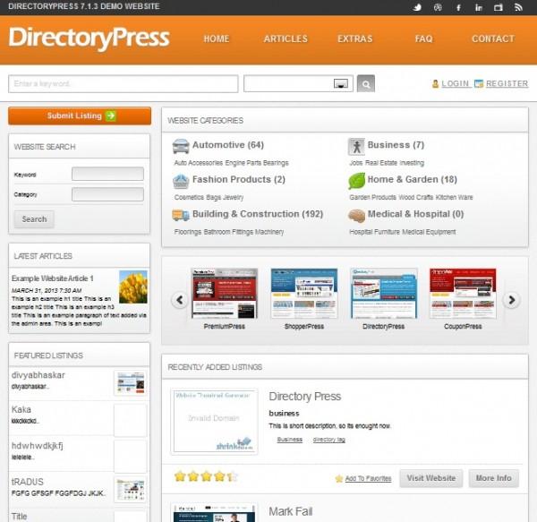 Directorypress wordpress theme
