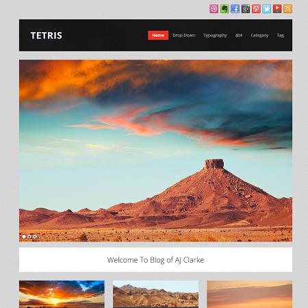 tetris wordpress theme
