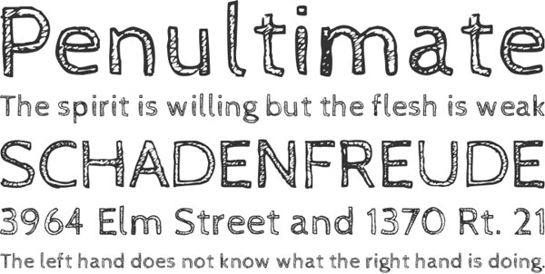CabinSketch font