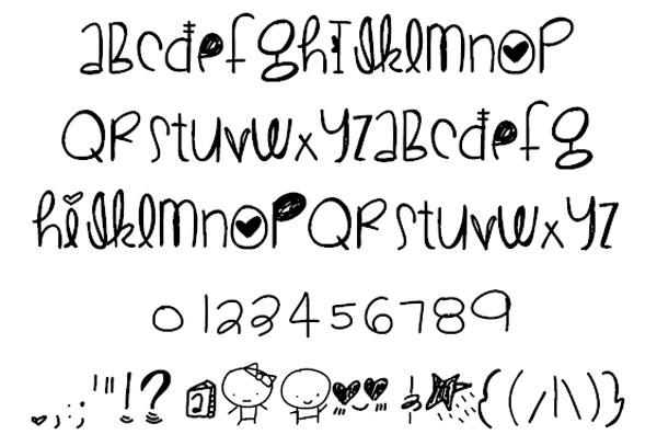 CuteLove font