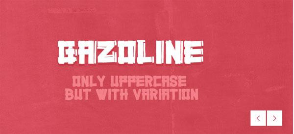 Gazoline font