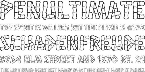 Hanalei font