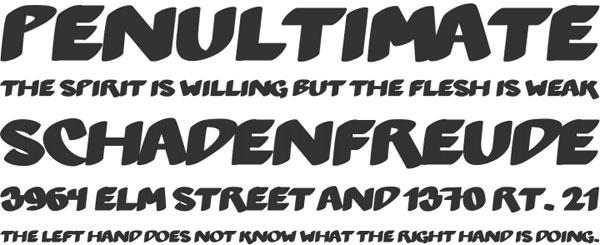 Hetilica font