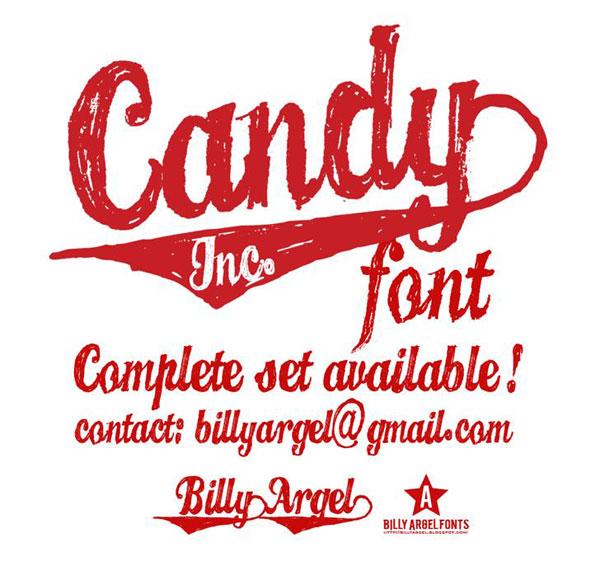 candy inc font