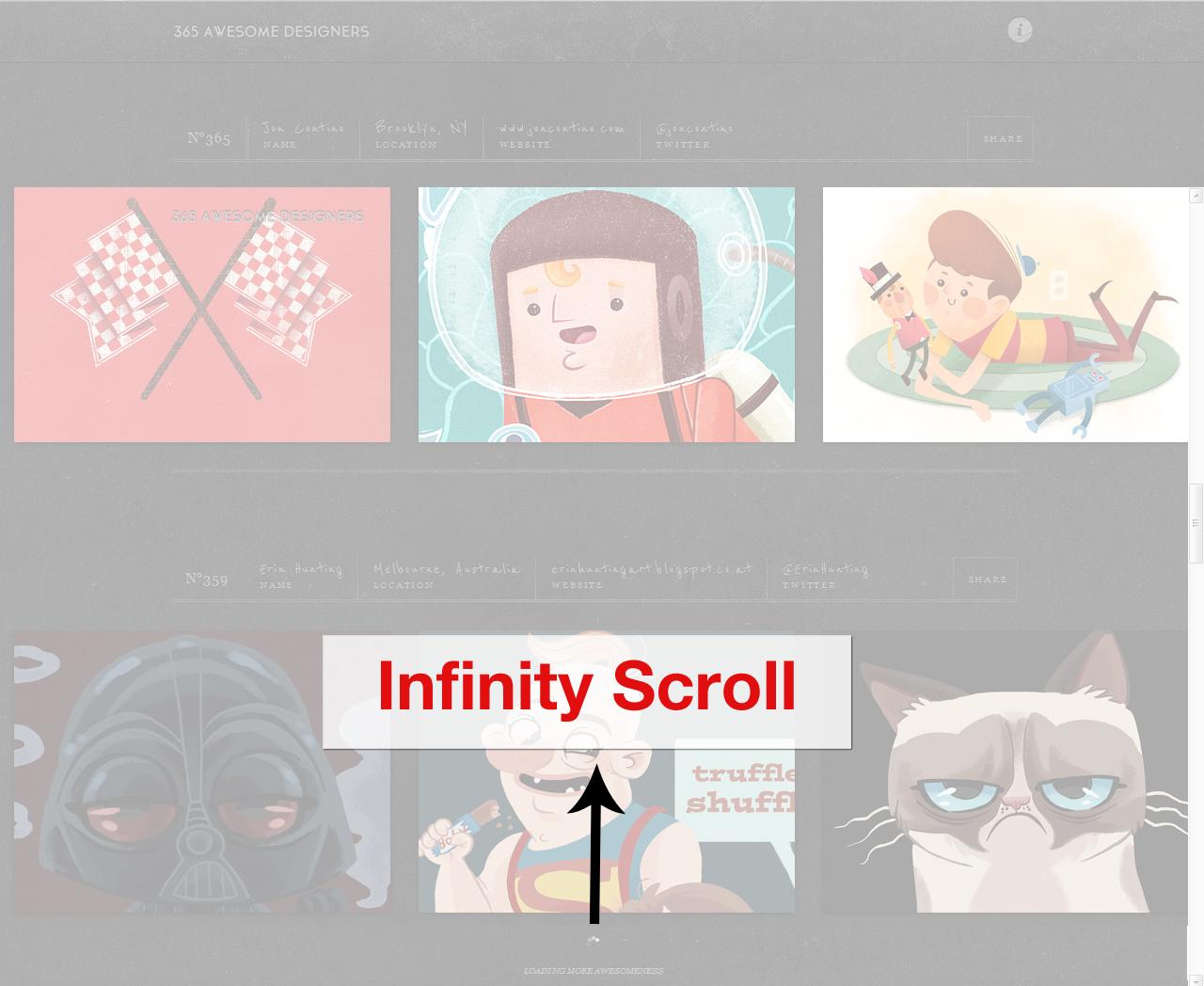 Infinite Scrolling