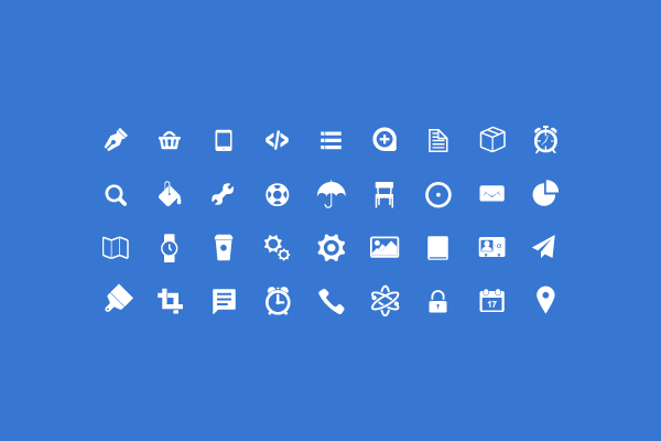 free vector icons PSD