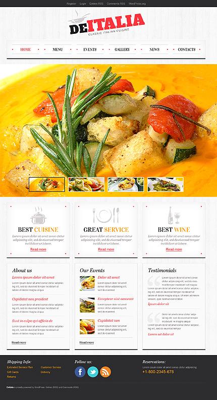 Classic Italian Cuisine WordPress Theme