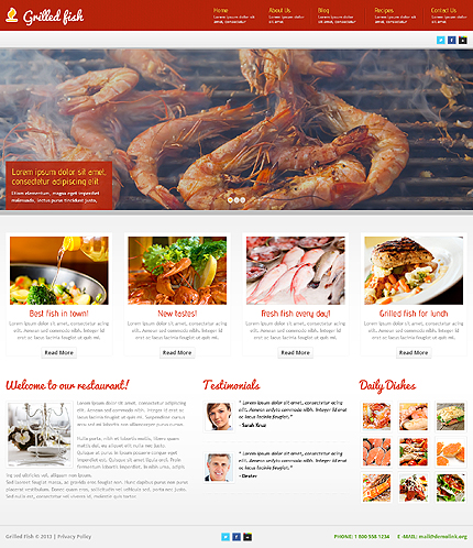 Red Seafood Restaurant WordPress Theme