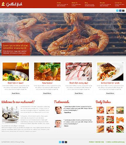 Red Seafood Restaurant WordPress Theme