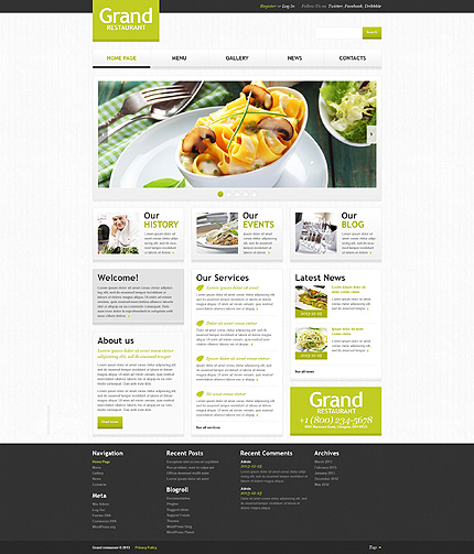 Light Space Café And Restaurant WordPress Theme