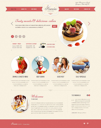 French Restaurant WordPress Theme